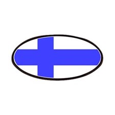 Square Finland Flag Patch