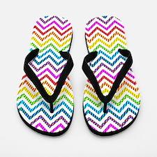 Wild Rainbow Chevron Flip Flops