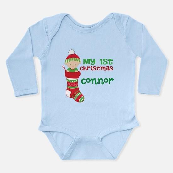 1st Christmas Custom Long Sleeve Infant Bodysuit