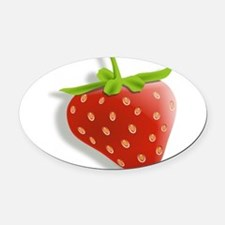 Strawberry Oval Car Magnet