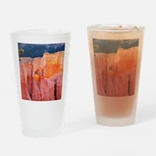 Bryce Canyons Arch at Sunset Drinking Glass