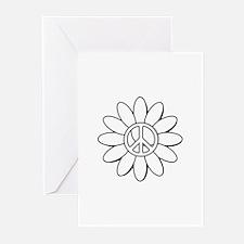 Daisy peace Greeting Cards
