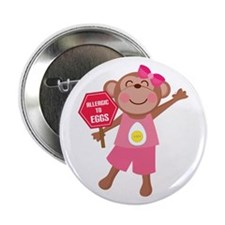 "Egg Allergy 2.25"" Button"