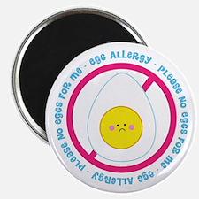 """Egg Allergy 2.25"""" Magnet (100 pack)"""
