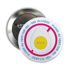 """Egg Allergy 2.25"""" Button (10 pack)"""
