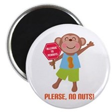 Please No Nuts Peanut Magnet