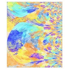 Fractal Feathers in Bright Colors Poster