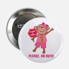 "Please No Nuts Peanut 2.25"" Button"