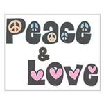 Peace and Love Poster (Small)
