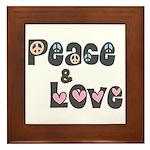 Peace and Love Tile (Framed)