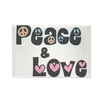 Peace and Love Rectangle Magnets (10 pk)