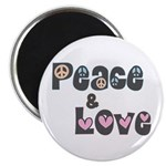 Peace and Love Magnets (10 pk)