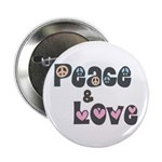 Peace and Love Buttons (100 pk)