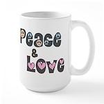 Peace and Love Large Mug