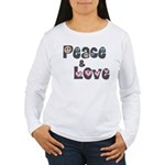 Peace and Love Women's Long Sleeve T-Shirt