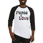 Peace and Love Baseball Jersey