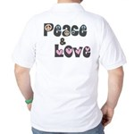 Peace and Love Golf Shirt