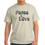 Peace and Love T-Shirt (Light)