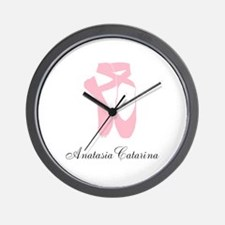 Team Pointe Ballet Pink Personalize Wall Clock