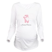 Team Pointe Pink Per Long Sleeve Maternity T-Shirt