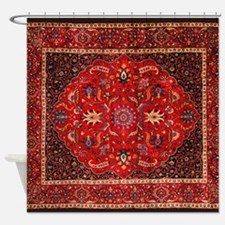 Antique Persian Rug Shower Curtain