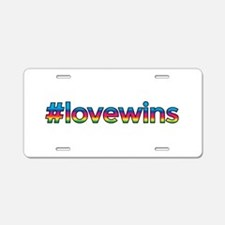 #lovewins Aluminum License Plate