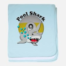 Nine Ball Pool Shark Baby Blanket