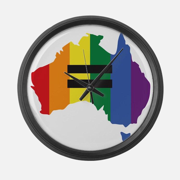 LGBT equality Australia Large Wall Clock