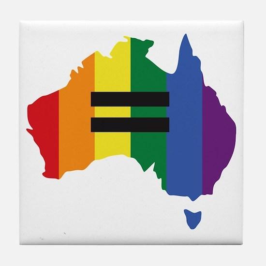 LGBT equality Australia Tile Coaster