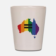 LGBT equality Australia Shot Glass