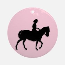 Girl on Horse Ornament (Round)