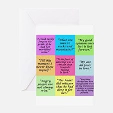 Pride and Prejudice Quotes Greeting Cards