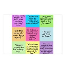Pride and Prejudice Quotes Postcards (Package of 8