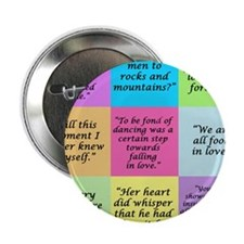 """Pride and Prejudice Quotes 2.25"""" Button (100 pack)"""