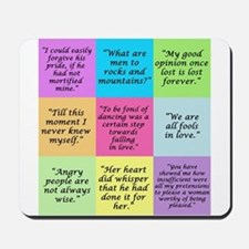 Pride and Prejudice Quotes Mousepad