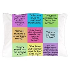 Pride and Prejudice Quotes Pillow Case