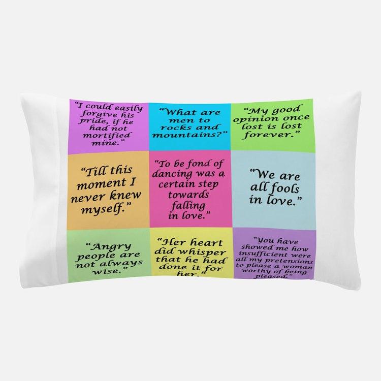 Pride and Prejudice Quotes Pillow Case