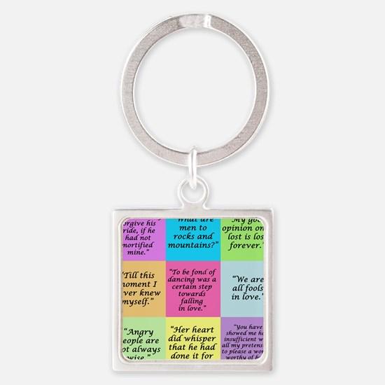 Pride and Prejudice Quotes Keychains