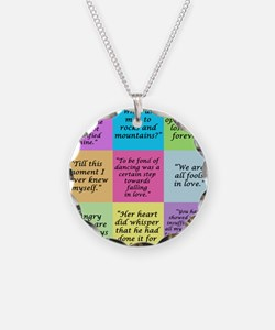 Pride and Prejudice Quotes Necklace