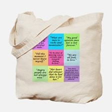 Pride and Prejudice Quotes Tote Bag