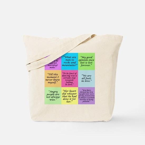 Pride and Prejudice Quotes Tote Bag