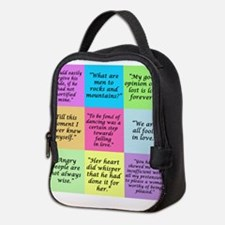 Pride and Prejudice Quotes Neoprene Lunch Bag