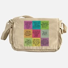 Pride and Prejudice Quotes Messenger Bag