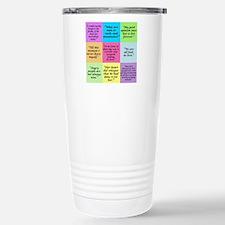 Pride and Prejudice Quotes Travel Mug