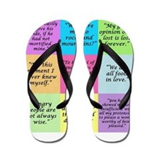 Pride and Prejudice Quotes Flip Flops