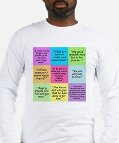 Pride and Prejudice Quotes Long Sleeve T-Shirt