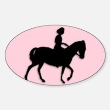 Girl on Horse Decal