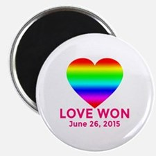 LOVE WON Marriage Equality Commemorate Magnet
