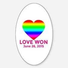 LOVE WON Marriage Equality Commemor Decal