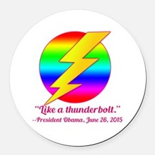 Justice Like a Thunderbolt Round Car Magnet